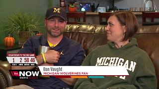 Couple in metro Detroit survive Michigan-Michigan State rivalry - Video