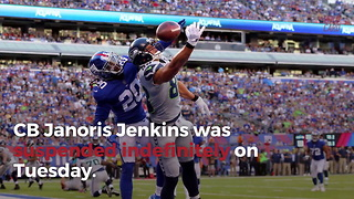 New York Giants Suddenly Suspend All-pro Indefinitely - Video
