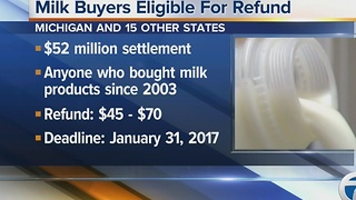 Refund for milk buyers because of class action lawsuit - Video