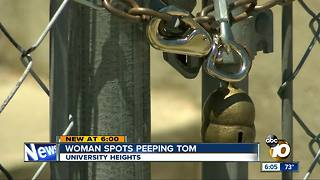 University Heights woman catches a peeping tom outside her window - Video