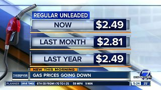Gas prices going down - Video