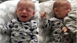 Dad Has an Idea to Make Baby Stop Crying
