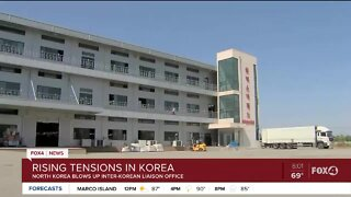 North Korea and South Korea tension after Liaison Office blows up