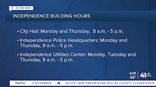 Independence scales back building hours