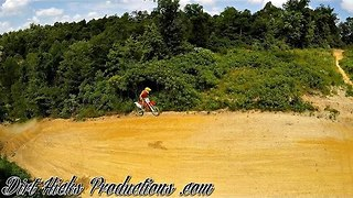 Motocross Biker Gets Crazy Air on Jump - Video
