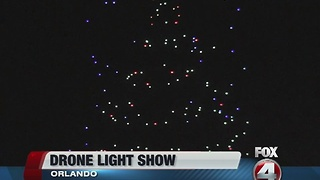 Disney debuts first drone light show - Video