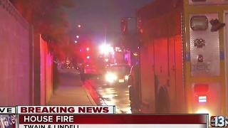 Crews respond to garage fire near Katie, Lindell - Video