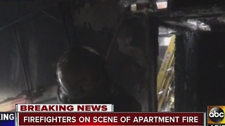 No serious injuries in Phoenix apartment fire - Video