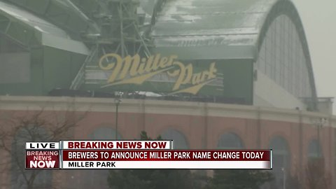 Brewers to announce Miller Park naming rights change