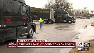 Truck drivers talk icy conditions on the roads - Video