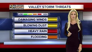 Flash flood watch in effect through midnight in parts of AZ - Video