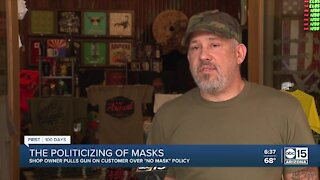 Owner pulls gun after customer ignores 'no-mask' mandate