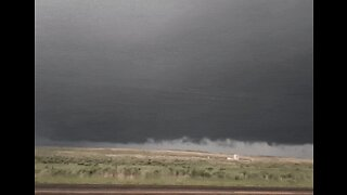 Dark Clouds Swirl Over Lipscomb County as Suspected Tornado Forms