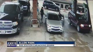 Police search for suspect in attempted carjacking stopped by tanker driver - Video