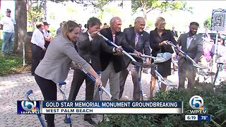 Groundbreaking ceremony held in West Palm Beach for new Gold Star families memorial