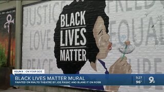 Tucson artists paint mural supporting Black Lives Matter