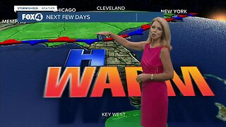Warm, dry weekend with near record highs