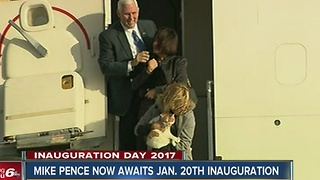 Pence returns to Washington ahead of inauguration - Video