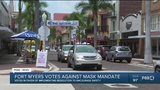 Fort Myers City Council votes against mask mandate