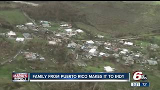 Indianapolis family with relatives from Puerto Rico travel to Indiana - Video
