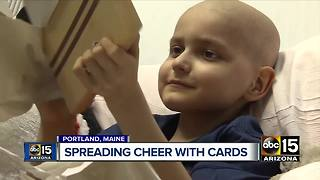 Boy with terminal cancer asking for Christmas cards - Video