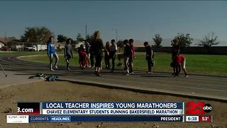 Local teacher inspires young marathoners - Video