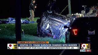 Driver in Kenton County crash that killed family of 5 charged with 5 counts of murder - Video