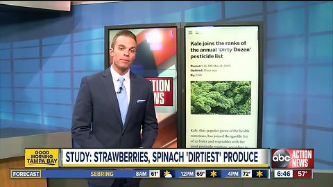 Kale joins the ranks of the annual 'Dirty Dozen' pesticide list