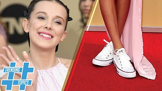 Millie Bobby Brown Leads the Tennis Shoe and Dress Movement | HS Trending Topics - Video