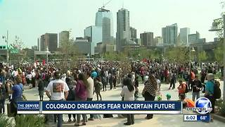 Hundreds of Denver students rally at Auraria Campus to protest Trump's DACA decision - Video