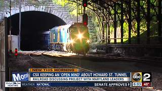 CSX keeping an open mind about expanding Howard Street Tunnel - Video