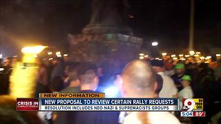 After Charlottesville, proposal to review rally requests from hate groups in Cincinnati - Video