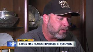 Akron man places hundreds in recovery - Video