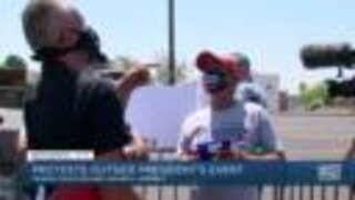 Protests outside President Trump's event in Phoenix