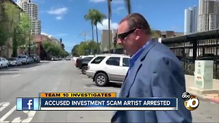 Accused investment scam artist arrested