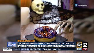Dunkin' Donuts reducing the number of flavors - Video
