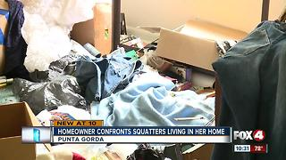 Woman confronts squatters living in her home - Video