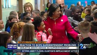 Reaction to Verletta White being declined as BCPS Superintendent - Video