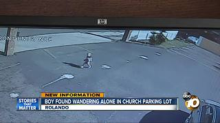 Toddler found wandering parking in Rolando - Video