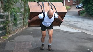 Bodybuilder Carries a Piano Up a Hill - Girlfriend Plays at The Top!