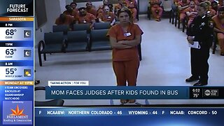 Mom faces judge after kids found in bus