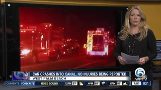 Car crashes into canal in West Palm Beach - Video