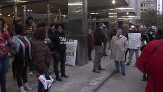 Protesters gather following decision to not charge officers in fatal shooting of Aaron Bailey - Video