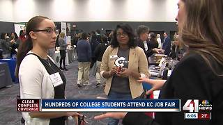 Hundreds of college students attend KC job fair - Video