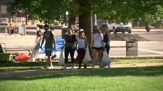 Protest cleanup in downtown Denver