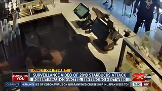 Only on 23ABC: Surveillance video captures 2018 machete attack at local Starbucks