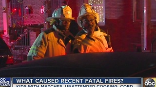 Cause of 3 fatal house fires in Baltimore released - Video