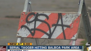 Tagger hitting area around Balboa Park