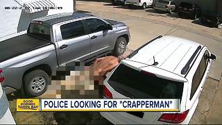 Florida police seek 'crapperman' after video catches suspect defecating in public - Video