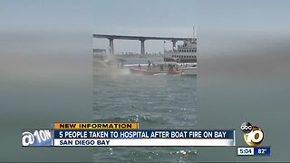 Five people suffer smoke inhalation after boat fire